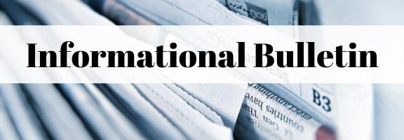 Informational Bulletin Header